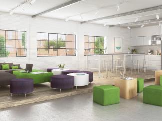 Przestrzeń wypoczynkowa w biurze, Katowice