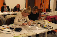 Interior design workshops – designing decor tiles matching choosen tiles collections