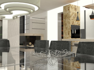 "DINING AREA – PRIZE HOUSE IN THE POLISH VERSION OF 'BUILDING THE DREAM"" TV SHOW"
