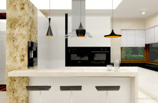 "KITCHEN AREA – PRIZE HOUSE IN THE POLISH VERSION OF 'BUILDING THE DREAM"" TV SHOW"