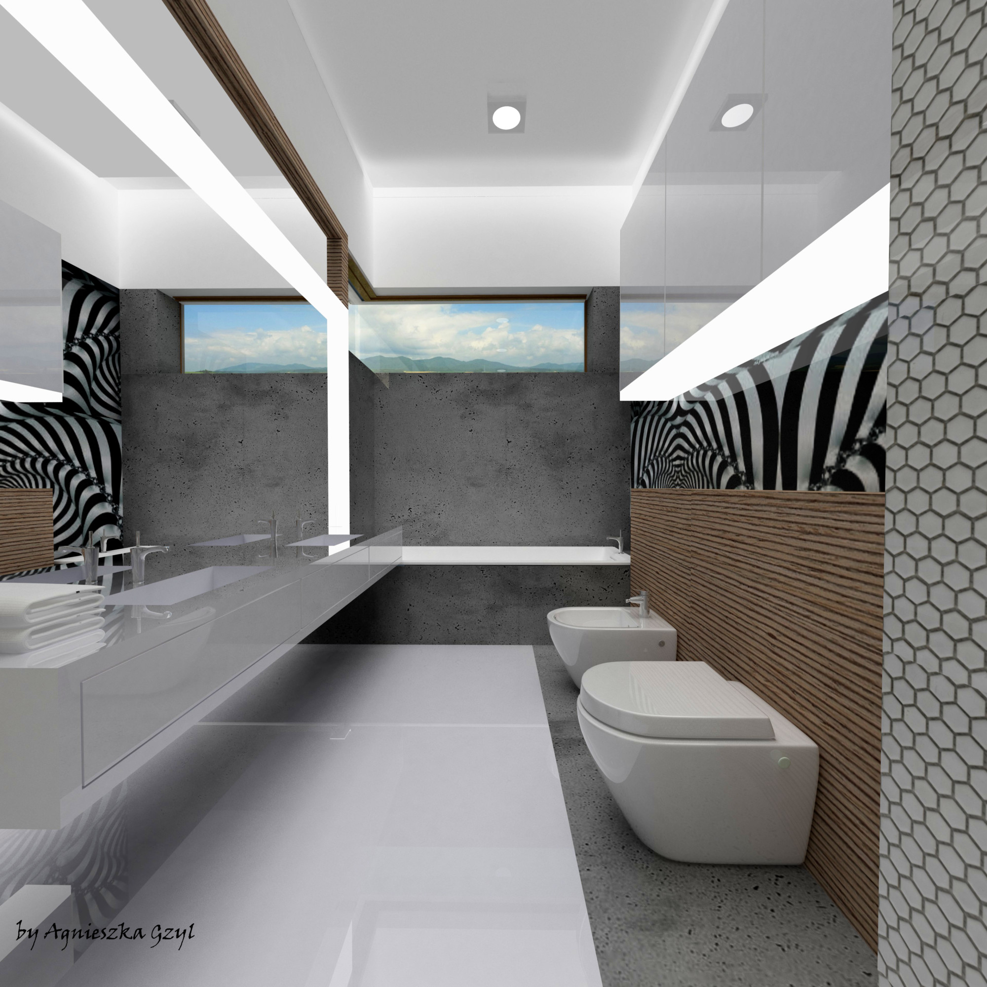 Master Bedroom Bathroom Prize House In The Polish Version Of Building The Dream Tv Show Agnieszka Gzyl Portfolio