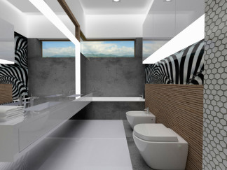 "MASTER BEDROOM BATHROOM– PRIZE HOUSE IN THE POLISH VERSION OF 'BUILDING THE DREAM"" TV SHOW"