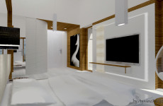 "MASTER BEDROOM – PRIZE HOUSE IN THE POLISH VERSION OF 'BUILDING THE DREAM"" TV SHOW"