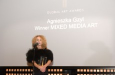 Aga Gzyl – the winner of Mixed Media Art category at Global Art Awards 2017 in Dubai